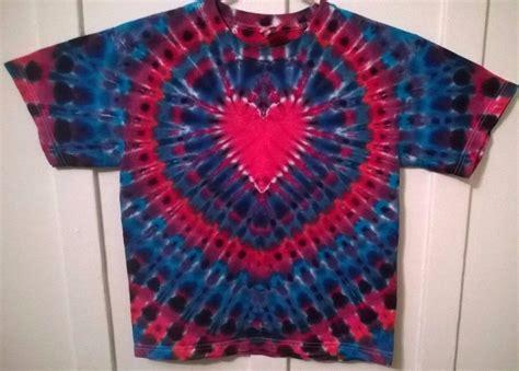 heart pattern tie dye new tie dye youth xl alstyle tshirt red blue purple heart