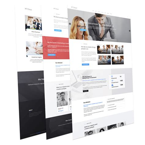 business template joomla business joomla template free wt clean