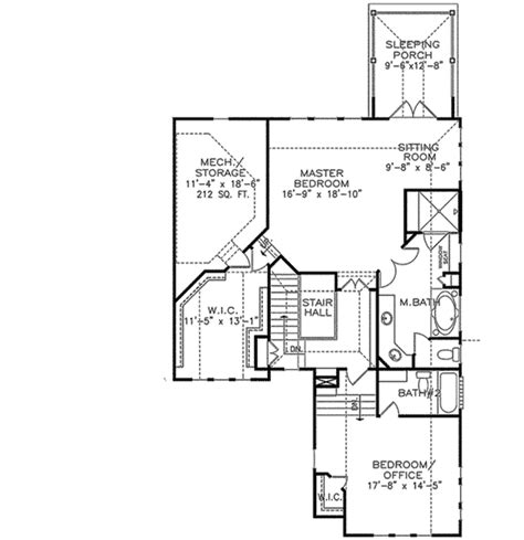 layout for small bedroom master with sleeping porch 15784ge 2nd floor master 15784 | 15784GE f2 1479195034
