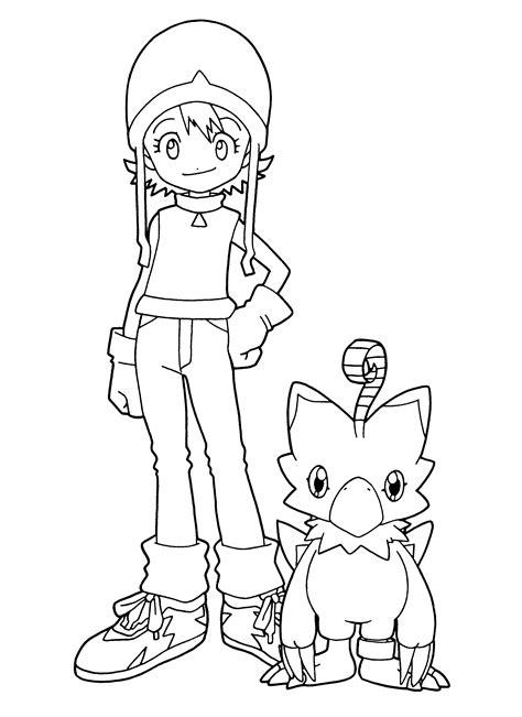 coloring page digimon coloring pages 98