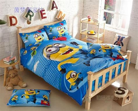 minion toddler bedding 2015 100 cotton minion bed sheet for baby bed cartoon quilt cover bed sheet pillowcase