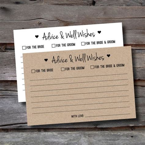 Wedding Advice For The by 25 Best Ideas About Advice Cards On Shower