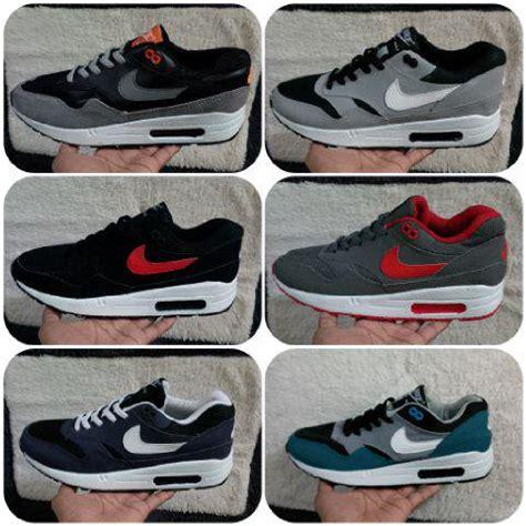 Sepatu Sneaker Murah Nike Air One Grade Ori Hitam Abu Abu sepatu nike kw