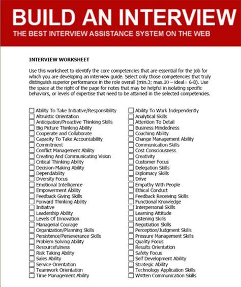 interview worksheets davezan