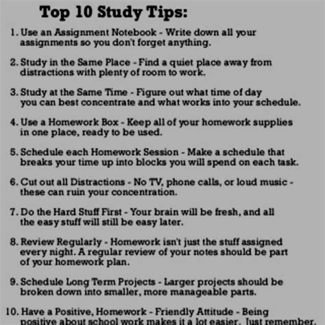8 Tips For College Students by Easy Study Tips To Stick With Need To Remember To Teach