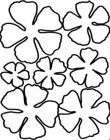 rose template printable clipart best