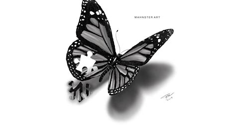butterfly tattoo song youtube drawing a realistic butterfly tattoo design puzzle piece