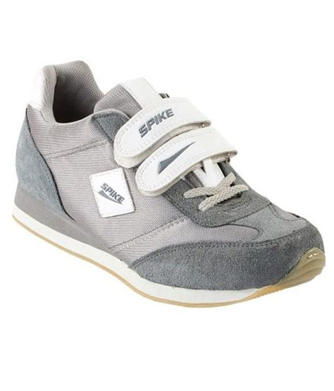 spike sport shoes spike gray synthetic leather sport shoes price in india