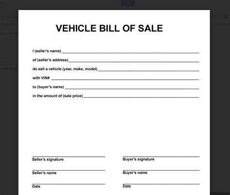 Simple Printable Vehicle Bill Of Sale | deeauvil freebie friday simple free bill of sale
