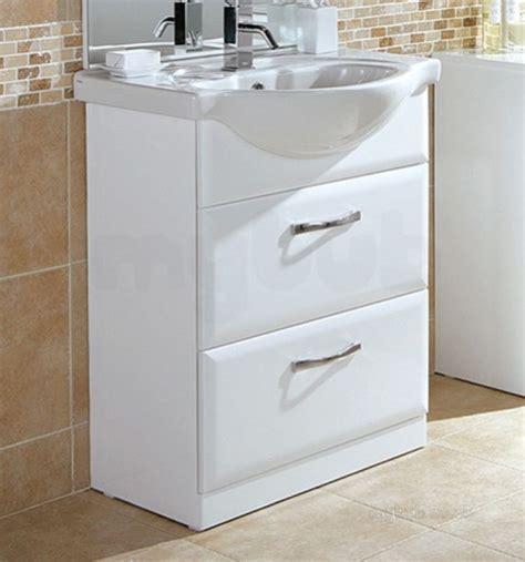 Vanity Base Units by Hib 993 476015 White Sorrento Bathroom Vanity Base Unit