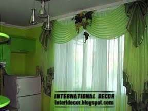 Green Kitchen Curtains Designs Contemporary Kitchen Curtain Ideas 2014 Bright Styles Colors