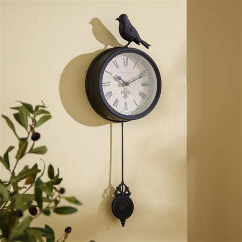 pendulum wall clock three posts 6 quot bird pendulum wall clock reviews wayfair