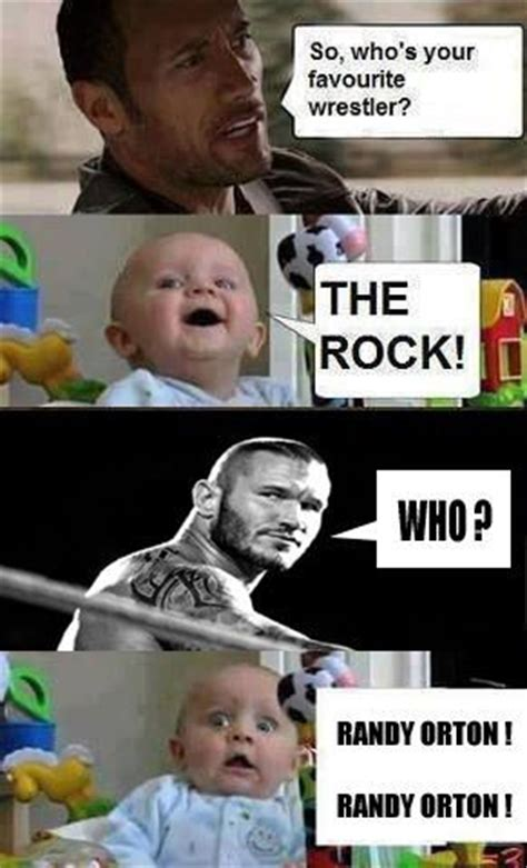 Randy Orton Meme - randy orton the rock l funny wwe meme wwe dbacks and