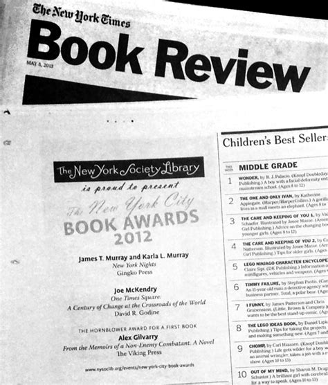 new york times book section james and karla murray s quot new york nights quot is honored by