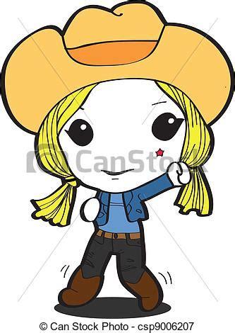 imagenes vaqueras en caricatura ilustraciones vectoriales de vaquera caricatura rubio