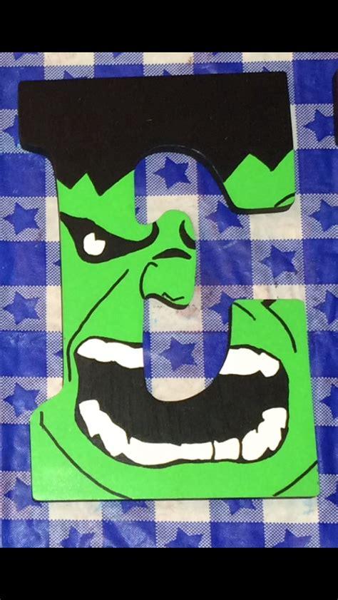 letras decoradas hulk decorated wooden letter quot e quot avengers themed the hulk