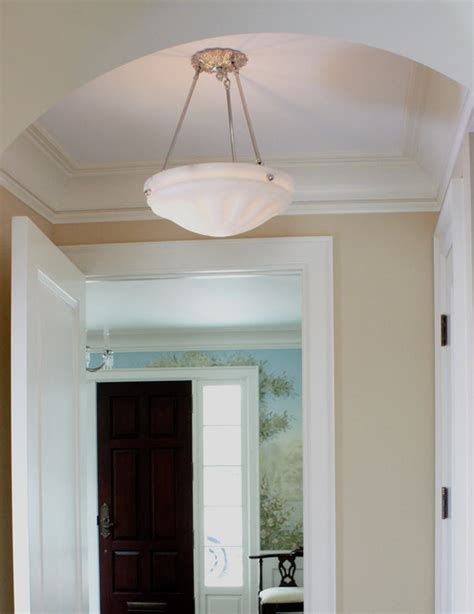 Hallway Ceiling Light Hallway Ceiling Light Traditional Flush Mount Ceiling Lighting Chicago By Brass Light