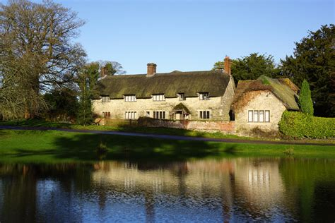 cottages dorset uk sunday photo this is ashmore pond with thatched
