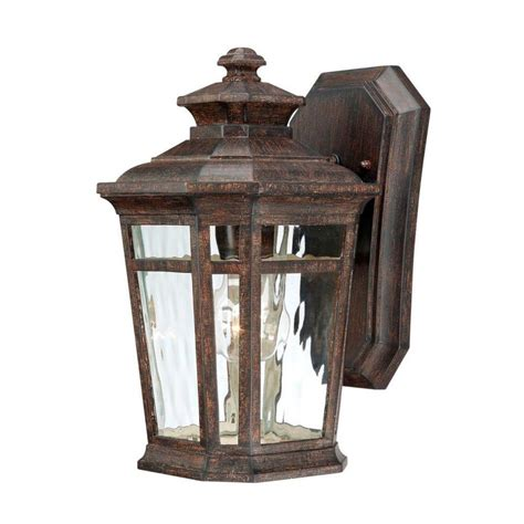 wall lantern outdoor lighting hton bay waterton wall mount 1 light outdoor lantern
