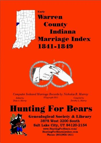 County Indiana Marriage Records Warren County Indiana Marriage Records 1841 1849 1980 Edition Open Library