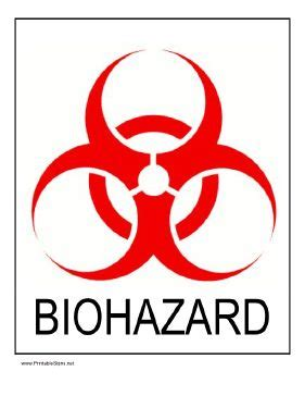 printable biohazard label warn of biological hazards by posting this printable sign