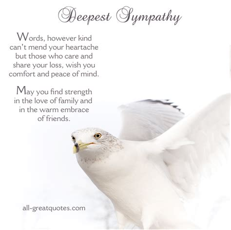 words of comfort for loss of sister deepest sympathy quotes loved ones quotesgram