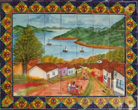 mexican tiles talavera tile murals toilets amp sinks mexican restaurant wall mural photograph by vic harris