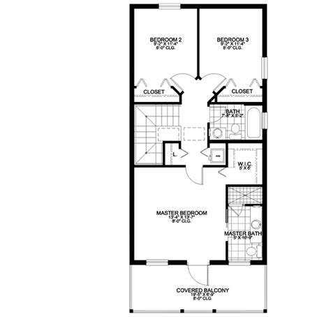 floor plan with balcony stacked porch and balcony 32129aa 2nd floor master