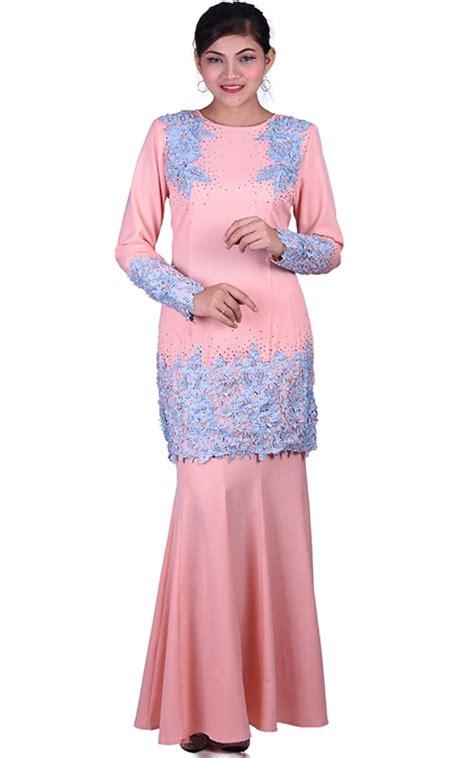 Baju Melayu Light baju kurung moden kaif light salmon baju kurung