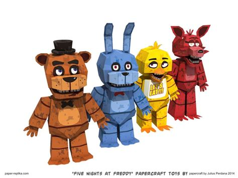 5 nights at freddy s toys ninjatoes papercraft weblog quot five nights at freddy s