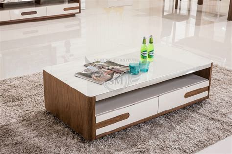 white living room tables 2015 mdf white glass top center table design glass top