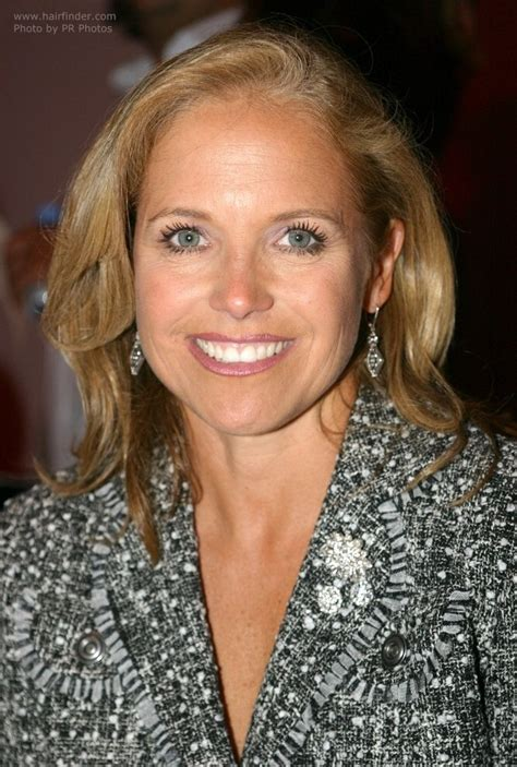 hair dryer featured on katie couric katie couric with long hair styled to make the most of her