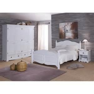 chambre blanche compl 232 te lit 160 armoire chevet