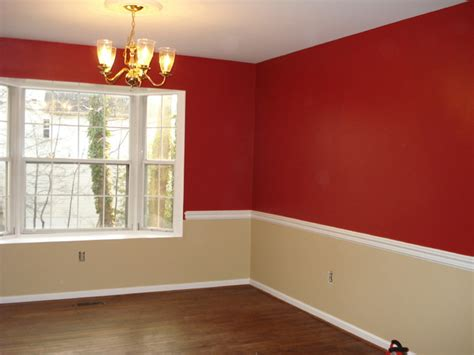 tan rooms after red and tan dining room family room other by