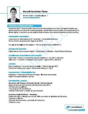 Curriculum Vitae De Estudiante Experiencia Laboral Plantilla Cv Experiencia