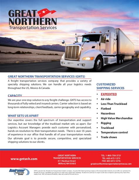 designmantic shipping great northern transportation services