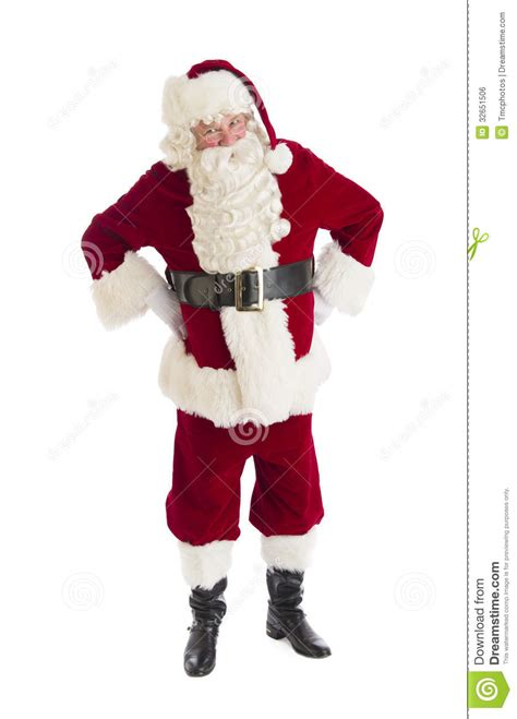 santa claus standing with hands on hips stock photo