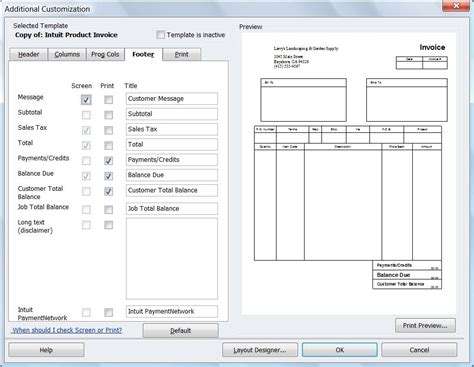 quickbooks invoice template commercial invoice template quickbooks free invoice