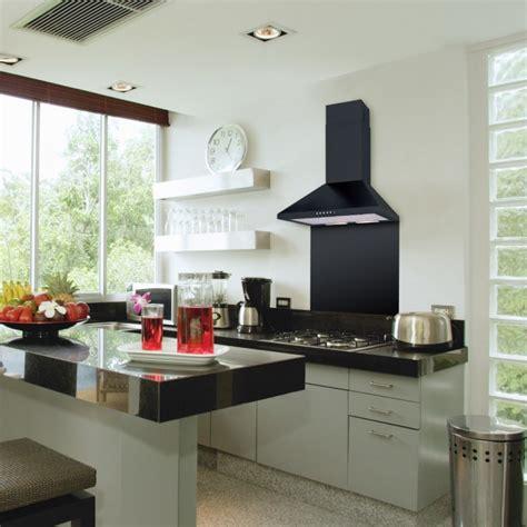 Small Ceiling Fans For Kitchen - universal stainless steel amp painted black straight splashbacks