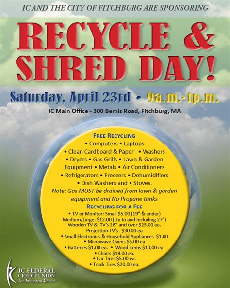 Forum Credit Union Shred Day 2016 Ic Federal Credit Union Gt Events Gt Recycle Shred Day Fitchburg