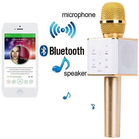 Wireless Mic Dan Hifi Speaker Q7 Microphone Speaker Portable portable wireless karaoke mic with inbuilt wireless microphone hifi speaker q7 buy