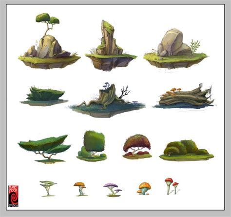 design for environment concept the mooniacs 2012 mobile game pesquisa google trees