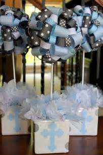 baby boy baptism centerpieces baptism party color scheme first communion pinterest