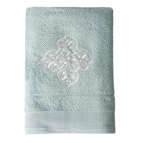 light blue bath towels saturday knight modena embroidered cotton bath towel in