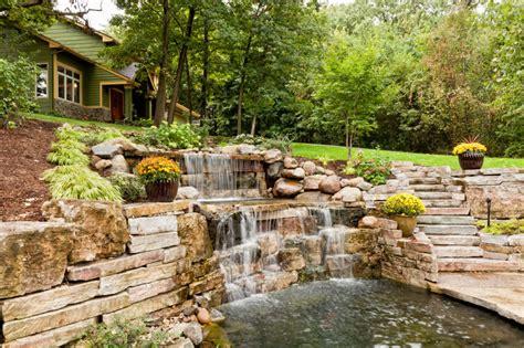 Hillside Patio by 50 Pictures Of Backyard Garden Waterfalls Ideas Designs