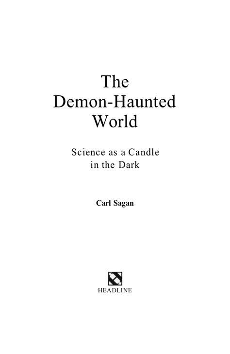 the demon haunted world science 1439505284 carl sagan the demon haunted world first 2 chapters