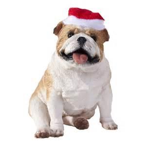 sandicast xso02204 fawn bulldog christmas tree ornament