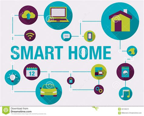 smart home and home automation infographic stock vector