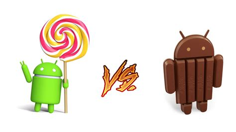android lollipop vs android kitkat new features galaxy note 4 android 5 0 lollipop vs android 4 4 4