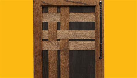 woven wood veneer cabinet door